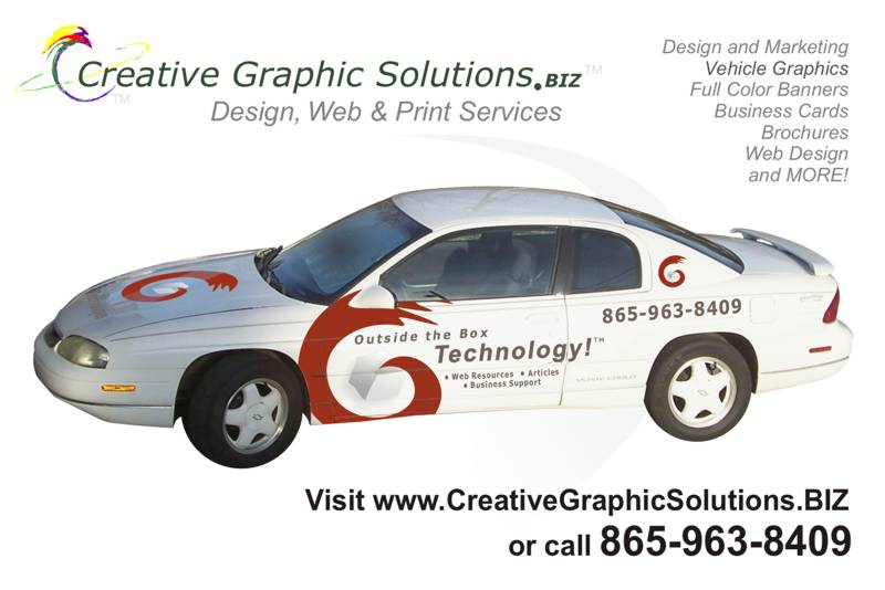 Creative Graphic Solutions.BIZ. Vehicle Graphics.